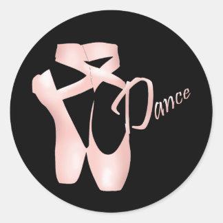 Ballet Ballerina Pink Pointe Shoes Dance Sticker