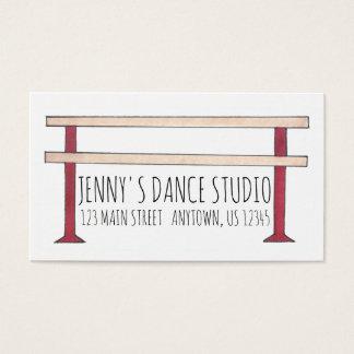 Ballet Barre Ballerina Dance Teacher Studio Dancer Business Card