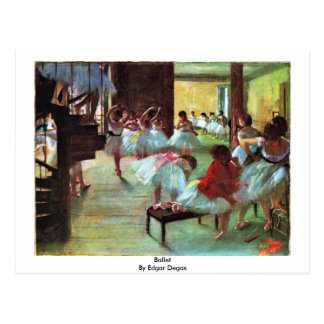 Ballet By Edgar Degas Postcard