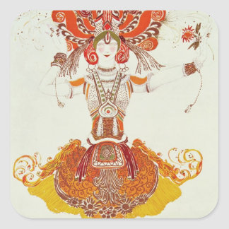 Ballet Costume for 'The Firebird', by Stravinsky Square Sticker