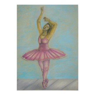 ballet dance 13 cm x 18 cm invitation card