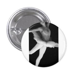 Ballet - Dance - Ballerina 9 - Black White Button