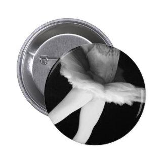 Ballet - Dance - Ballerina 9 - Black & White Pinback Button