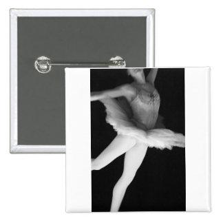 Ballet - Dance - Ballerina 9 - Black & White Buttons