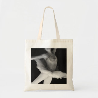 Ballet - Dance - Ballerina 9 - Black & White Budget Tote Bag