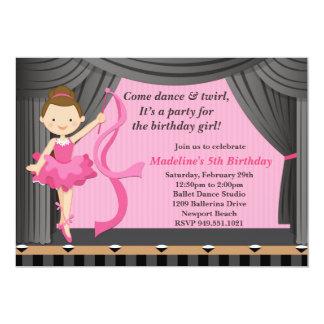 Ballet Dance Birthday Party Invitation