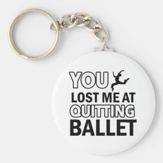 Ballet dance designs key ring