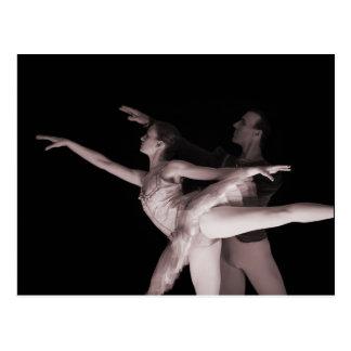 Ballet - Dance Partners 2 - Red Postcard