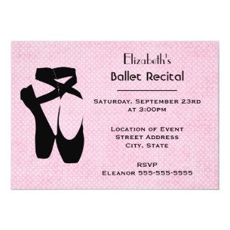 Ballet Dance Recital 13 Cm X 18 Cm Invitation Card