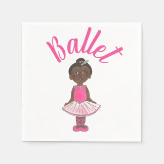 Ballet Dance Recital Pink Tutu Ballerina Dancer Disposable Napkin