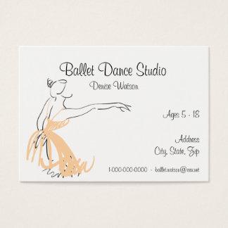 Ballet dance Studio Apricot COlor Business Card