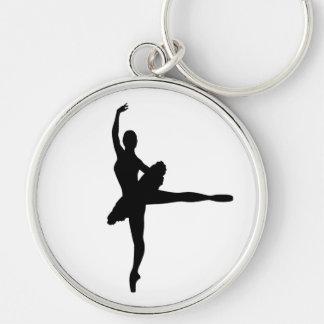 BALLET DANCER Arabesque (Ballerina silhouette) v2 Key Ring