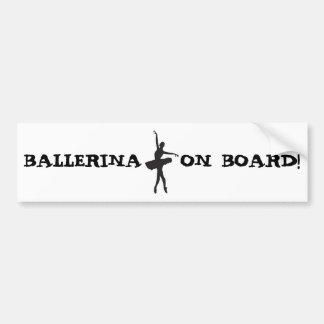 BALLET DANCER (Ballerina silhouette) ~.jpg Bumper Sticker