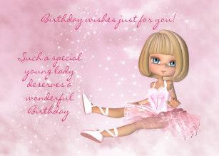 Young Girl Birthday Cards Zazzlecomau