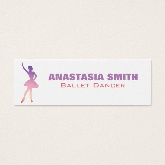 Ballet dancer business card in modern ombre design