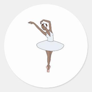 Ballet Dancer Classic Round Sticker