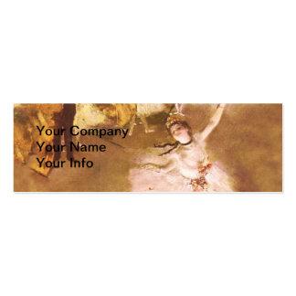 Ballet Dancer Degas Star Impressionist Painting Pack Of Skinny Business Cards