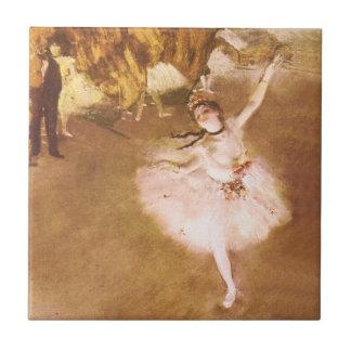 Ballet Dancer Degas Star Impressionist Painting Tile