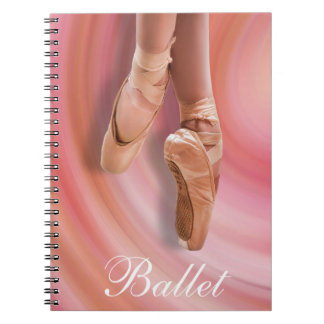 Ballet Dancer in Pink Notebook