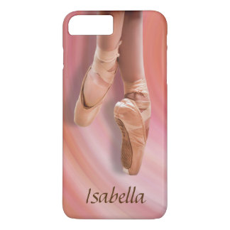 Ballet Dancer in Pink with Custom Name iPhone 7 Plus Case