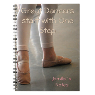 BALLET DANCER NOTEBOOK. PERSONAL GREAT DANCERS SPIRAL NOTE BOOKS