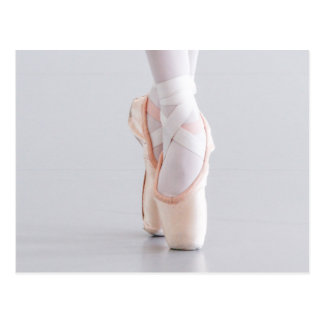 Ballet Dancer Pointe Shoes Pink Slippers Postcard