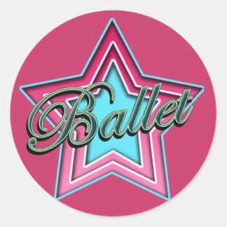 Ballet Dancer Round Sticker
