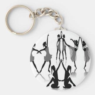 Ballet dancer set design key ring