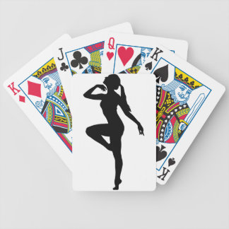 Ballet Dancer Silhouette Bicycle Playing Cards