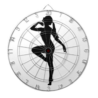 Ballet Dancer Silhouette Dartboard