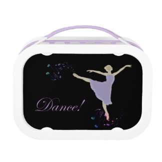 Ballet Dancer With Dancing Musical Notes Lunch Box Yubo Lunch Box