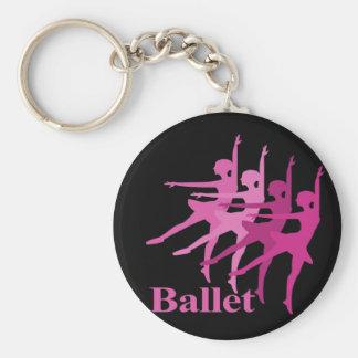 Ballet Dancers Basic Round Button Key Ring