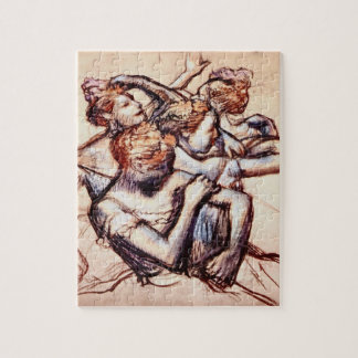 Ballet Dancers in Half Figure by Edgar Degas Jigsaw Puzzle