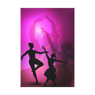 Ballet dancers pink artistic design canvas prints