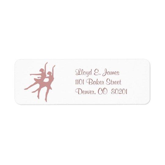 Ballet Dancers Return Address Label