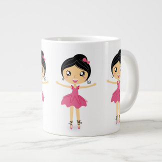 Ballet Dancing Girl in Pink Jumbo Mug
