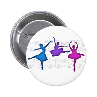 Ballet Day Ballerinas 6 Cm Round Badge