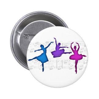 Ballet Day Ballerinas 6 Cm Round Badge