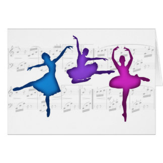 Ballet Day Ballerinas Greeting Card