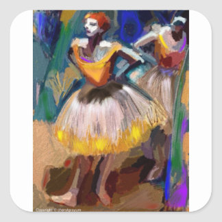 Ballet - Dega Square Sticker