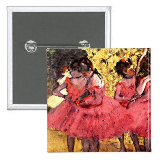 BALLET--Degas: The Pink Dancers 15 Cm Square Badge