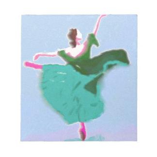 Ballet Dress Art Notepad