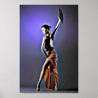 Ballet Flamingo Dancer Poster