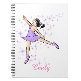 Ballet girl dressed in lilac notebooks