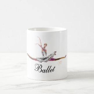 """Ballet Grande Jete with """"Ballet"""" Mug"""