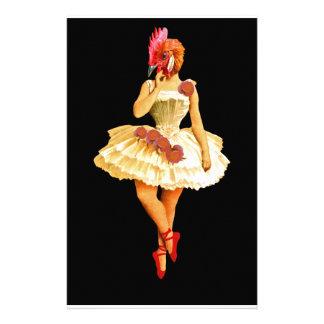 Ballet Hen Stationery