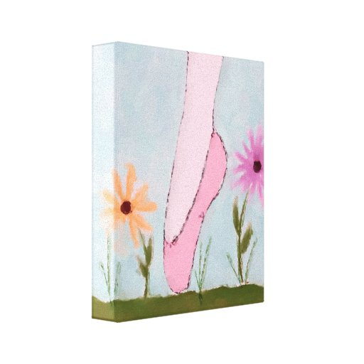 Ballet in Flowers Wrapped Canvas Print