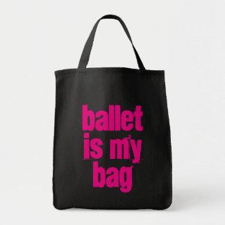 Ballet is My Bag Black & Pink Tote Bag