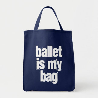 Ballet is My Bag Navy & White Tote Bag