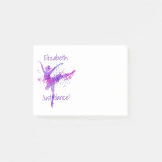 Ballet Just Dance Paint Splatter Post-it Notes